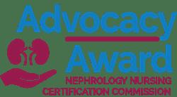 Advocacy Award - Nephrology Nursing Certification Commission logo