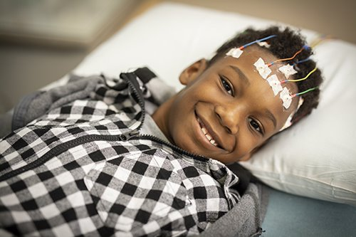 Photo of neurology patient at Arkansas Children's