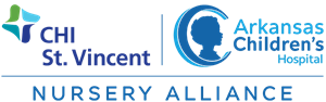 CHI St. Vincent / Arkansas Children's Nursery Alliance Logo